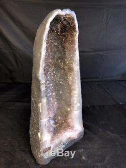 19 AMETHYST Geode Quartz Crystal Cluster Cathedral Specimen Brazil