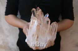 1930g(4.2lb) Natural Beautiful Clear Quartz Crystal Cluster Tibetan Specimen