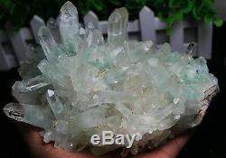 1966gNew! 100% Natural Rare Bright Green Pyramid Phantom Crystal Cluster Specimen