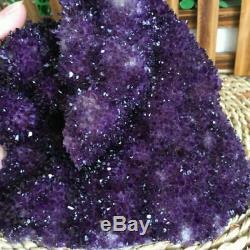 1970g Amethyst Cluster Geode Crystal Quartz Cut Base Amethyst Specimen Uruguay