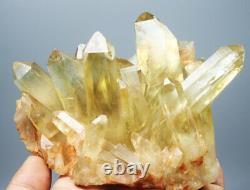 2.04lb Natural Smoky Citrine Crystal Cluster Point Healing Mineral Specimen
