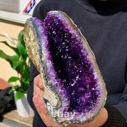 2.26LB Natural Amethyst geode quartz cluster crystal specimen Healing