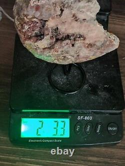 2.2lb Big Rose Pink Amethyst Crystal Cluster Display Quartz Geode