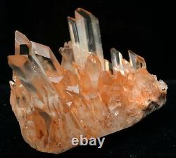 2.86lb Natural Beautiful Pink Quartz Crystal Cluster Mineral Specimen Rare