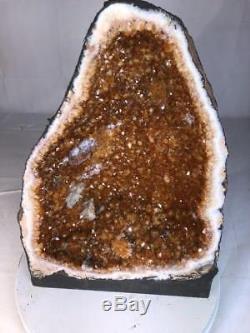 20 Qual. Aaa Citrine Cathedral Geode Crystal Quartz Cluster Specimen Brazil