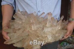 20000g NATURAL TIBETAN CLEAR QUARTZ CRYSTAL CLUSTER AWESOME FORM Specimen