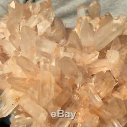 2005g Large Natural Clear Pink Quartz Crystal Cluster Rough Healing Specimen
