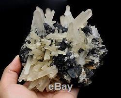 2058g New Rare NATURAL QUARTZ Crystal Cluster specularite Specimen