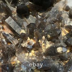2085g Large Natural Black Smoky Quartz Crystal Cluster Rough Healing Specimen