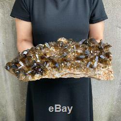 20LBS Huge Natural Smoky Quartz Cluster Crystal Specimen Wand Point Healing