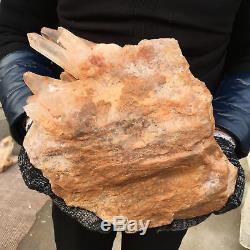 21.12LB Natural clear cluster quartz Mineral crystal specimen healing AP4581