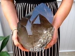 21.58lb HUGE NATURAL Smokey quartz crystal cluster Point Specimens