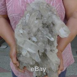 21.5LB AAAAA+++ NATURAL tibetan Quartz Crystal Cluster AWESOME FORM