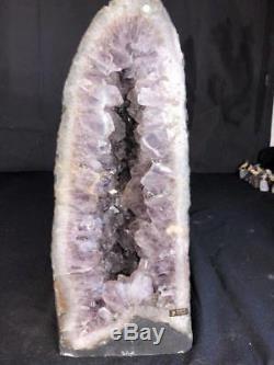 21 Amethyst Cathedral Geode Crystal Quartz Natural Cluster Specimen Brazil
