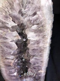 21 Cathedral Amethyst Geode Quartz Crystal Cluster Specimen Brazil