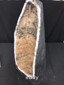 21 Cathedral CITRINE Geode Quartz Crystal Cluster Amethyst