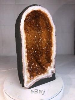 21 Qual. Aaa Citrine Cathedral Geode Crystal Quartz Cluster Specimen Brazil