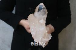 2120g Natural Beautiful Clear Quartz Crystal Cluster Tibetan Specimen B553