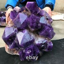 213LB 21 Huge Natural amethyst Cluster purple Quartz Crystal mineral Specimen