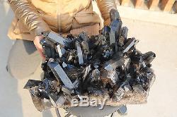 21600g(47.5Ib) Natural Beautiful Black Quartz Crystal Cluster Tibetan Specimen