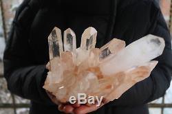 2160g Natural Beautiful Clear Quartz Crystal Cluster Tibetan Specimen B883
