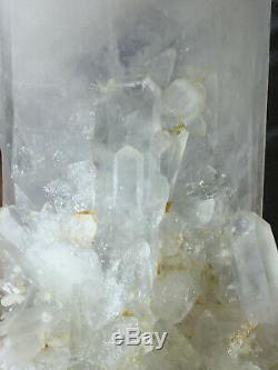 22.0lb Huge Natural White Quartz Stele Crystal Cluster Rough Healing Specimen