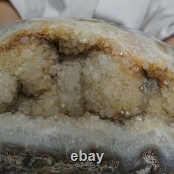 22.7LB 10.5 Natural Agate Carnelian Quartz Crystal Cluster Points Geode Healing