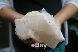 2220g Natural Skeletal Elestial CLear Quartz Crystal Cluster Specimen Tibet #901
