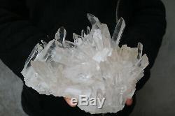 2270g(5LB) Natural Beautiful Clear Quartz Crystal Cluster Tibetan Specimen