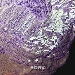 2295g Natural Unique Multilayer Cubic Purple Fluorite Crystal Cluster Specimen