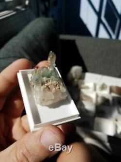22g Ajoite in Quartz cluster, Messina Mine South Africa #11