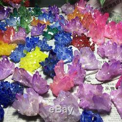22lb color Aura Quartz Crystal Titanium Bismuth Silicon Cluster Rainbow 70-90pcs