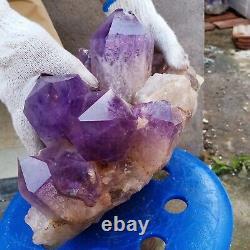 23.5LB Huge amethyst Cluster Natural Quartz Crystal mineral Specimen Healing