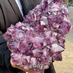 23.65LB Natural Amethyst geode quartz cluster crystal specimen Healing