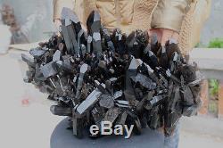 23000g Natural Beautiful Black Quartz Crystal Cluster Tibetan Specimen #301