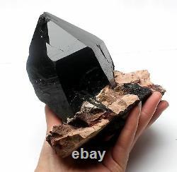 2310g Rare Natural Black QUARTZ Crystal Cluster Mineral Specimen