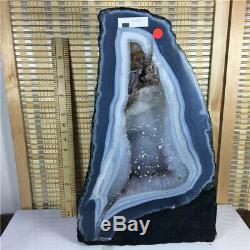 24.09LB Natural Amethyst geode quartz cluster crystal specimen healing 914