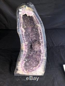 24 AMETHYST Geode Quartz Crystal Cluster Cathedral Specimen Brazil