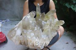24360g(53.7lb) Natural Citrine Smoke Quartz Crystal Cluster Tibetan Specimen