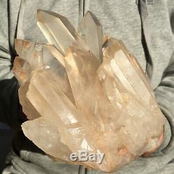 2472g Large Natural Clear White Quartz Crystal Cluster Rough Healing Specimen