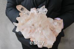 2480g(5.46lb) Natural Beautiful Clear Quartz Crystal Cluster Tibetan Specimen