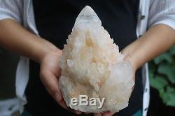 2480g Natural Skeletal Elestial CLear Quartz Crystal Cluster Specimen Tibet #902