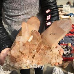 25.6LB Natural cluster Mineral specimen quartz crystal point healing TT63