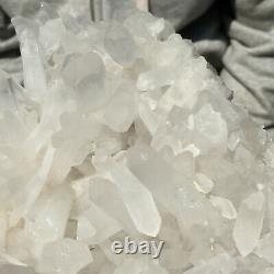 2510g Large Natural Clear White Quartz Crystal Cluster Rough Healing Specimen