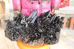 25200g(55.5Ib) Natural Beautiful Black QUARTZ Crystal Cluster Mineral Specimen