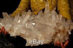 25950g NATURAL Tibetan CLEAR QUARTZ CRYSTAL CLUSTER point mineral Specimen