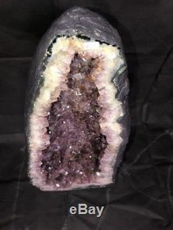 26 Amethyst Cathedral Geode Crystal Quartz Natural Cluster Specimen Brazil