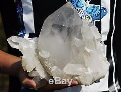 2626g New Find Unique skeletal Elestial QUARTZ Crystal Cluster Specimen
