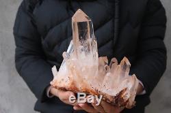 2760g(6.07lb) Natural Beautiful Clear Quartz Crystal Cluster Tibetan Specimen