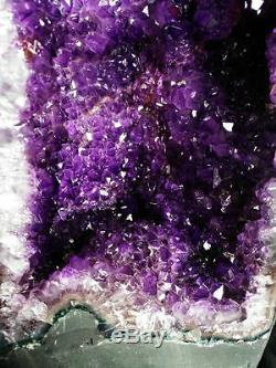 28.5Ib 16.7 NATURAL BRAZIL AMETHYST GEODE CLUSTER VIOLET Crystal